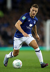 """Everton's Nikola Vlasic during the Carabao Cup, Third Round match at Goodison Park, Liverpool. PRESS ASSOCIATION Photo. Picture date: Wednesday September 20, 2017. See PA story SOCCER Everton. Photo credit should read: Nick Potts/PA Wire. RESTRICTIONS: EDITORIAL USE ONLY No use with unauthorised audio, video, data, fixture lists, club/league logos or """"live"""" services. Online in-match use limited to 75 images, no video emulation. No use in betting, games or single club/league/player publications"""