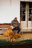 Visitors tour the gold rush town of VVVV, Friday Feb. 19, 2010.Photo Brian Baer