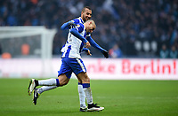 Fotball<br /> Tyskland<br /> 14.03.2015<br /> Foto: Witters/Digitalsport<br /> NORWAY ONLY<br /> <br /> 1:0 Jubel v.l. John Anthony Brooks, Torschuetze Aenis Ben-Hatira (Berlin)<br /> Fussball Bundesliga, Hertha BSC Berlin - FC Schalke 04