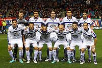 09.12.2012 SPAIN -  La Liga 12/13 Matchday 15th  match played between Atletico de Madrid vs R.C. Deportivo de la Courna (6-0) at Vicente Calderon stadium. The picture show R.C. Deportivo de la Courna Team Group Liune-up