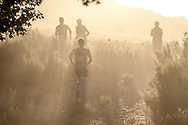 GV. The sun and dust combrined to provide a dramatic start to Stage 1 of the Tankwa Trail on Friday the 17th of February 2017. Photo by: Oakpics / Dryland Event Management / SPORTZPICS {dem16gst}