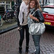 NLD/Amsterdam/20120126 - Lunch en opname pilot Dani Bles en Fab, Sjimmy Bruijninckx en Patty Brard