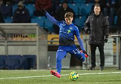 Jakob Johansson (HB Køge) under kampen i 1. Division mellem HB Køge og FC Helsingør den 4. december 2020 på Capelli Sport Stadion i Køge (Foto: Claus Birch).