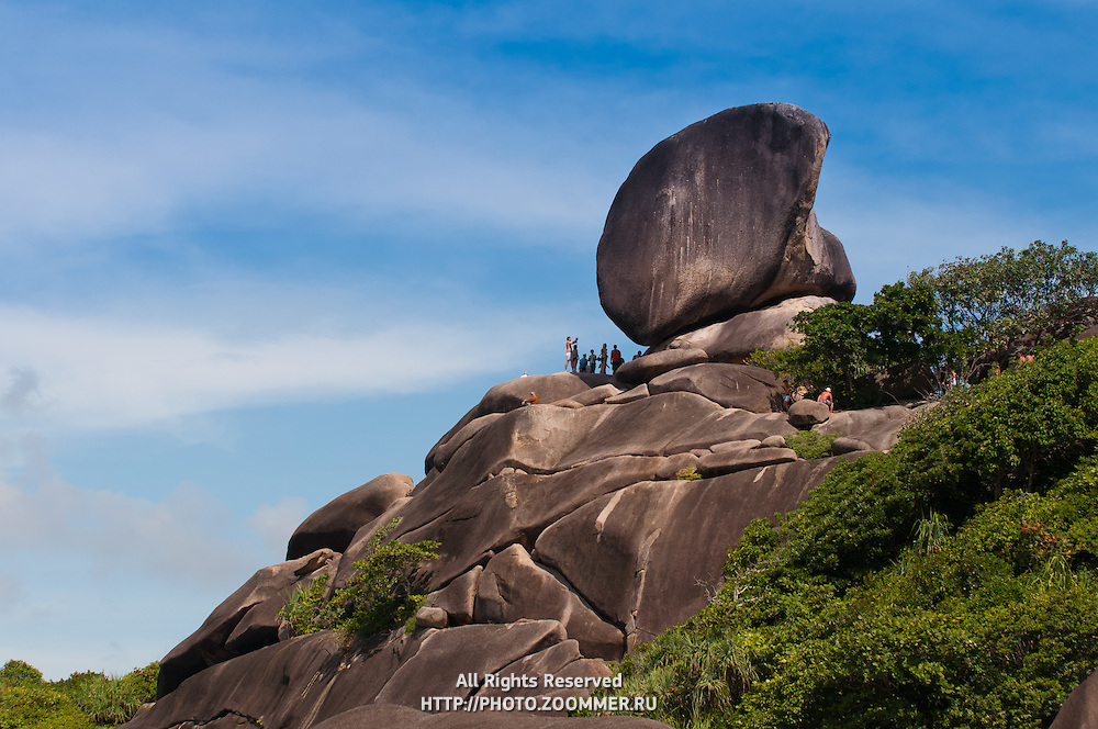 Sail rock on Similan islands in Thailand