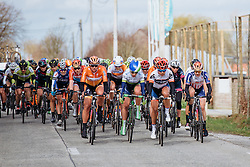 Annemiek van Vleuten and Carmen Small find their way to the front on a peloton controlled by Boels Dolmans - Women's Gent Wevelgem 2016, a 115km UCI Women's WorldTour road race from Ieper to Wevelgem, on March 27th, 2016 in Flanders, Netherlands.