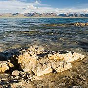 Lake Namtso. Altitudes above 17,000 feet. Tibet. Asia.