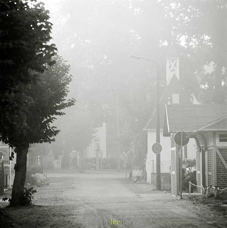 A misty day in the town of Binz, on the island of Rugen, northern Germany