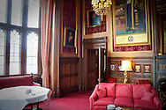 The Speaker's Chamber in the Palace of Westminster in the Houses of Parliament, London, Britain.