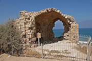 Structure in the old Ashkelon port, Israel