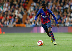 March 2, 2019 - Madrid, Spain - FC Barcelona's Ousmane Dembele during La Liga match between Real Madrid and FC  Barcelona at Santiago BernabÈu in Madrid..Final Score: Real Madrid 0 - 1 FC Barcelona (Credit Image: © Manu Reino/SOPA Images via ZUMA Wire)