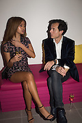 ZAHIA DEHAR; STEPHANE RUFFIER-MERAY, Serpentine Gallery and Harrods host the Future Contempories Party 2016. Serpentine Sackler Gallery. London. 20 February 2016