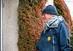 Haddington, East Lothian, Scotland, United Kingdom, 12 November 2019. General Election campaigning:  Robert O'Riordan, the Scottish Liberal Democrat candidate for East Lothian canvasses voters in Long Cram today. <br /> Sally Anderson | EdinburghElitemedia.co.uk