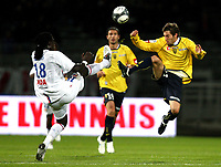 FOOTBALL - FRENCH CHAMPIONSHIP 2009/2010  - L1 - OLYMPIQUE LYON v FC SOCHAUX - 17/10/2009 - <br /> <br /> VINCENT NOUGUEIRA (SO) / BAFETIMBI GOMIS)<br /> Norway only