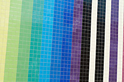 Multicoloured Exterior Tiled Wall