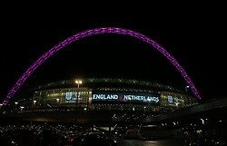 Photo taken on March 29, 2016 shows the Wembley Arch during the International Friendly Match between England and the Netherlands at Wembley Stadium in London, Britain, on March 29, 2016. England lost 1-2. EXPA Pictures © 2016, PhotoCredit: EXPA/ Photoshot/ Han Yan<br /> <br /> *****ATTENTION - for AUT, SLO, CRO, SRB, BIH, MAZ, SUI only*****