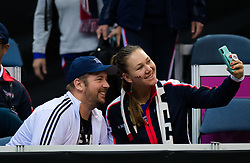 November 10, 2018 - Prague, Czech Republic - Nicole Melichar of the United States during practice ahead of the 2018 Fed Cup Final between the Czech Republic and the United States of America (Credit Image: © AFP7 via ZUMA Wire)