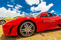 A Ferrari F430 at Exotic Rides Mexico. Exotic Rides Mexico gives guests the opportunity to drive the most exotic and exclusive cars in the world on a 1.1 mile private race track in Cancun, Quintana Roo, Mexico.