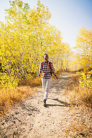 Toya Eastman soaking up the colors while hiking the Summit Trail, American Fork Canyon, Utah.