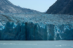 Alaska, Cruising the Southeast wilderness waterways on the Spirit of Discovery.  Endicott Arm and Dawes Glacier, scenery, glacier and cruise ship..Photo #: alaska10530 .Photo copyright Lee Foster, 510/549-2202, lee@fostertravel.com, www.fostertravel.com..