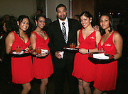 """DeRay Davis and The Ladies of Alize at The Ludacris Foundation 5th Annual Benefit Dinner & Casino Night sponsored by Alize, held at The Foundry at Puritan Mill in Atlanta, Ga on May 15, 2008.. Chris """"Ludacris"""" Bridges, William Engram and Chaka Zulu were the inspiration for the development of The Ludacris Foundation (TLF). The foundation is based on the principles Ludacris learned at an early age: self-esteem, spirituality, communication, education, leadership, goal setting, physical activity and community service. Officially established in December of 2001, The Ludacris Foundation was created to make a difference in the lives of youth. These men have illustrated their deep-rooted tradition of community service, which has broadened with their celebrity status. The Ludacris Foundation is committed to helping youth help themselves."""