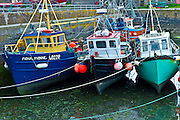 Fishing trawlers and boats at Slade Harbour, County Wexford, Southern Ireland