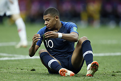 Kylian Mbappe of France during the 2018 FIFA World Cup Russia Final match between France and Croatia at the Luzhniki Stadium on July 15, 2018 in Moscow, Russia