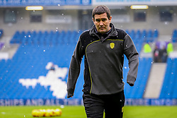 Burton Albion manager Nigel Clough inspects the pitch pro to kick off in the snow - Mandatory by-line: Jason Brown/JMP - 11/02/2017 - FOOTBALL - Amex Stadium - Brighton, England - Brighton and Hove Albion v Burton Albion - Sky Bet Championship