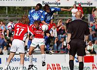 Paulo Dos Santos, Aalesund, Trond Fredriksen, Aalesund. Are Brodtkorb, Kongsvinger. <br /> <br /> Fotball: Kongsvinger - Aalesund 2-2 (5-2 e. straffer). NM 2004 herrer, 3. runde. 8. juni 2004. (Foto: Peter Tubaas/Digitalsport.
