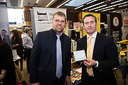 Paul Lawless Foods of Athenry and  Damien English TD, Minister of State at the Department of Jobs, Enterprise & Innovationat the annual SCCUL Enterprise Awards prize giving ceremony and business expo which was hosted by NUI Galway in the Bailey Allen Hall, NUIG. Photo:Andrew Downes
