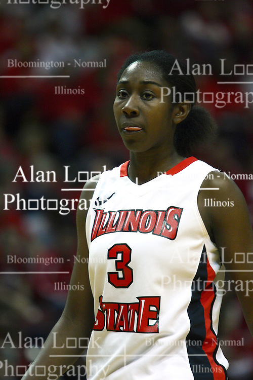 27 March 2011: Candace Sykes during a WNIT (Women's National Invitational Tournament Women's basketball sweet 16 game between the Arkansas Razorbacks and the Illinois State Redbirds at Redbird Arena in Normal Illinois.