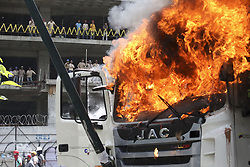 June 22, 2017 - Caracas, Venezuela - opposition activists and riot police clashed during an anti-government protest in Caracas, on June 22, 2017. (Credit Image: © Panoramic via ZUMA Press)