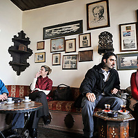 Istanbul, Turkey 16 February 2008<br /> Scene in the Cafe Pierre Loti (Piyerloti Kahvesi), Istanbul.<br /> This coffee place has a beautiful view of the Goldern Horn. The name of this place is in honor to French sailor and writer Louis Marie Julien Viaud, who used the pseudonym Pierre Loti.<br /> Photo: Ezequiel Scagnetti