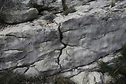 Weathering of carboniferous limestone joints and bedding planes, Vall de Laguar,  Marina Alta, Alicante province, Spain