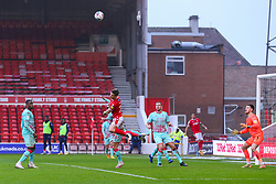 Ryan Yates of Nottingham Forest  heads in the box - Mandatory by-line: Nick Browning/JMP - 29/11/2020 - FOOTBALL - The City Ground - Nottingham, England - Nottingham Forest v Swansea City - Sky Bet Championship