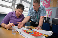 United Kingdom. Bradford. Skills For Life in action at Bradford College..Photo©Steve Forrest/Workers Photos