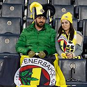 Fenerbahce's supporters during their Ziraat Turkey CUP soccer match Fenerbahce between Kayserispor at the Sukru Saracaoglu stadium in Istanbul Turkey on Tuesday 02 December 2014. Photo by Kurtulus YILMAZ/TURKPIX