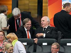 17.07.2011, Commerzbankarena, Frankfurt, GER, FIFA Women Worldcup 2011, Finale,  Japan (JPN) vs. USA (USA), im Bild:  .Günther Netzer und Bundeskanzler a.D. Dr. Helmut Kohl auf der Tribüne ..// during the FIFA Women Worldcup 2011, final, Japan vs USA on 2011/07/17, FIFA Frauen-WM-Stadion Frankfurt, Frankfurt, Germany.  EXPA Pictures © 2011, PhotoCredit: EXPA/ nph/  xxxxx       ****** out of GER / CRO  / BEL ******