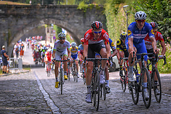 July 28, 2018 - Les Bons Villers, BELGIUM - Belgian Tim Wellens of Lotto Soudal and Colombian Alvaro Jose Hodeg of Quick-Step Floors pictured during the first stage of the Tour De Wallonie cycling race, 193,4 km from La Louviere to Les Bons Villers, on Saturday 28 July 2018. BELGA PHOTO LUC CLAESSEN (Credit Image: © Luc Claessen/Belga via ZUMA Press)