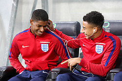 Marcus Rashford and Jesse Lingard during a tour of the stadium before an England press conference ahead of the football match between National teams of Slovenia and England in Round #3 of FIFA World Cup Russia 2018 Qualifier Group F, on October 10, 2016 in SRC Stozice, Ljubljana, Slovenia. Photo by Morgan Kristan / Sportida