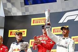 October 21, 2018 - Austin, United States - Motorsports: FIA Formula One World Championship; 2018; Grand Prix; United States, FORMULA 1 PIRELLI 2018 UNITED S GRAND PRIX , Circuit of The Americas#7 Kimi Raikkonen (FIN, Scuderia Ferrari), #44 Lewis Hamilton (GBR, Mercedes AMG Petronas F1 Team), #33 Max Verstappen (NDL, Red Bull Racing), #7 Kimi Raikkonen (FIN, Scuderia Ferrari), #44 Lewis Hamilton (GBR, Mercedes AMG Petronas F1 Team), #33 Max Verstappen (NDL, Red Bull Racing) (Credit Image: © Hoch Zwei via ZUMA Wire)