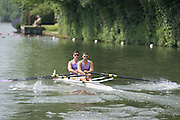 Henley Royal Regatta, Henley on Thames, Oxfordshire, 3-7 July 2013.  Saturday  11:19:43   06/07/2013  [Mandatory Credit/Intersport Images]<br /> <br /> Rowing, Henley Reach, Henley Royal Regatta.<br /> <br /> The Double Sculls Challenge Cup<br /> A.J. Groom & B.G. Stentiford (Durham University)