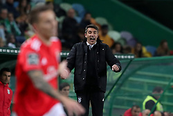 February 3, 2019 - Lisbon, Portugal - Benfica's head coach Bruno Lage celebrates during the Portuguese League football match Sporting CP vs SL Benfica at Alvalade stadium in Lisbon, Portugal on February 3, 2019. (Credit Image: © Pedro Fiuza/ZUMA Wire)