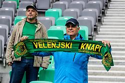 Fans of NK Rudar during football match between NK Olimpija Ljubljana and NK Rudar Velenje in 25rd Round of Prva liga Telekom Slovenije 2018/19, on April 7th, 2019 in Stadium Stozice, Slovenia Photo by Matic Ritonja / Sportida