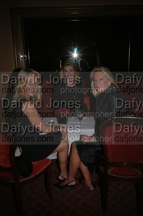Alice Bamford, Susan Gutfreund and Lady Bamford. Valentino couture show, Ecole Nationale Superiore des Beaux -Arts, rue Bonaparte. After party at the Ritz. 23 January  2006.  ONE TIME USE ONLY - DO NOT ARCHIVE  © Copyright Photograph by Dafydd Jones 66 Stockwell Park Rd. London SW9 0DA Tel 020 7733 0108 www.dafjones.com