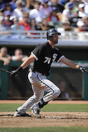 MESA, AZ - MARCH 6:  Jordan Danks #76 of the Chicago White Sox bats against the Chicago Cubs on March 6, 2010 at HoHoKam Park in Mesa, Arizona. (Photo by Ron Vesely)