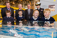 HRH The Princess Royal watches children play a boat race during her commemorative visit to Boathouse 4 at Portsmouth Historic Dockyard today. The Boathouse opened last year following a £5.7million restoration and features a boatbuilding academy, The Forgotten Craft exhibition, family activities and Midships restaurant.<br /> Picture date: Monday March 20, 2017.<br /> Photograph by Christopher Ison ©<br /> 07544044177<br /> chris@christopherison.com<br /> www.christopherison.com