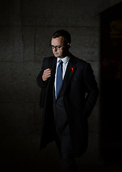 The Prime Minister David Cameron's spin doctor and former editor of the News of the World Andy Coulson leaves The Old Bailey Phone during the Phone Hacking Trial, London, United Kingdom. Tuesday, 29th October 2013. Picture by Andrew Parsons / i-Images