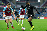 Barnsley forward Mamadou Thiam (26) during the The FA Cup 3rd round match between Burnley and Barnsley at Turf Moor, Burnley, England on 5 January 2019.