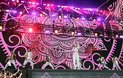 Anne-Marie on stage during Capital's Summertime Ball with Vodafone at Wembley Stadium, London.