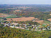 Aerial View of Wauzeka, Crawford, County, Wisconsin.
